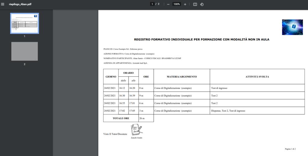 Il nuovo registro della formazione fad