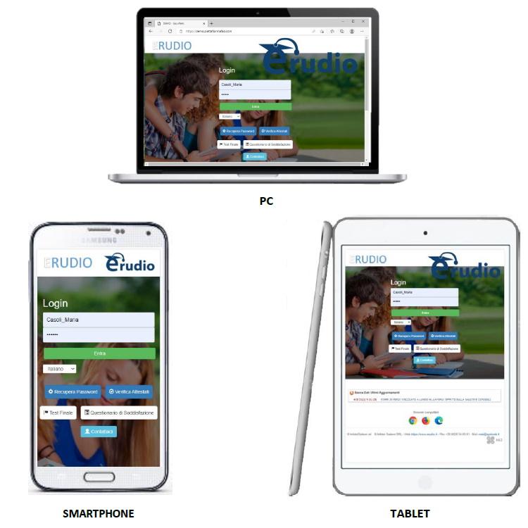 Cliccando sul menu, sarà possibile visualizzare ed accedere, in aggiunta alle sezioni e-Learning e Webinar, alle sezioni: